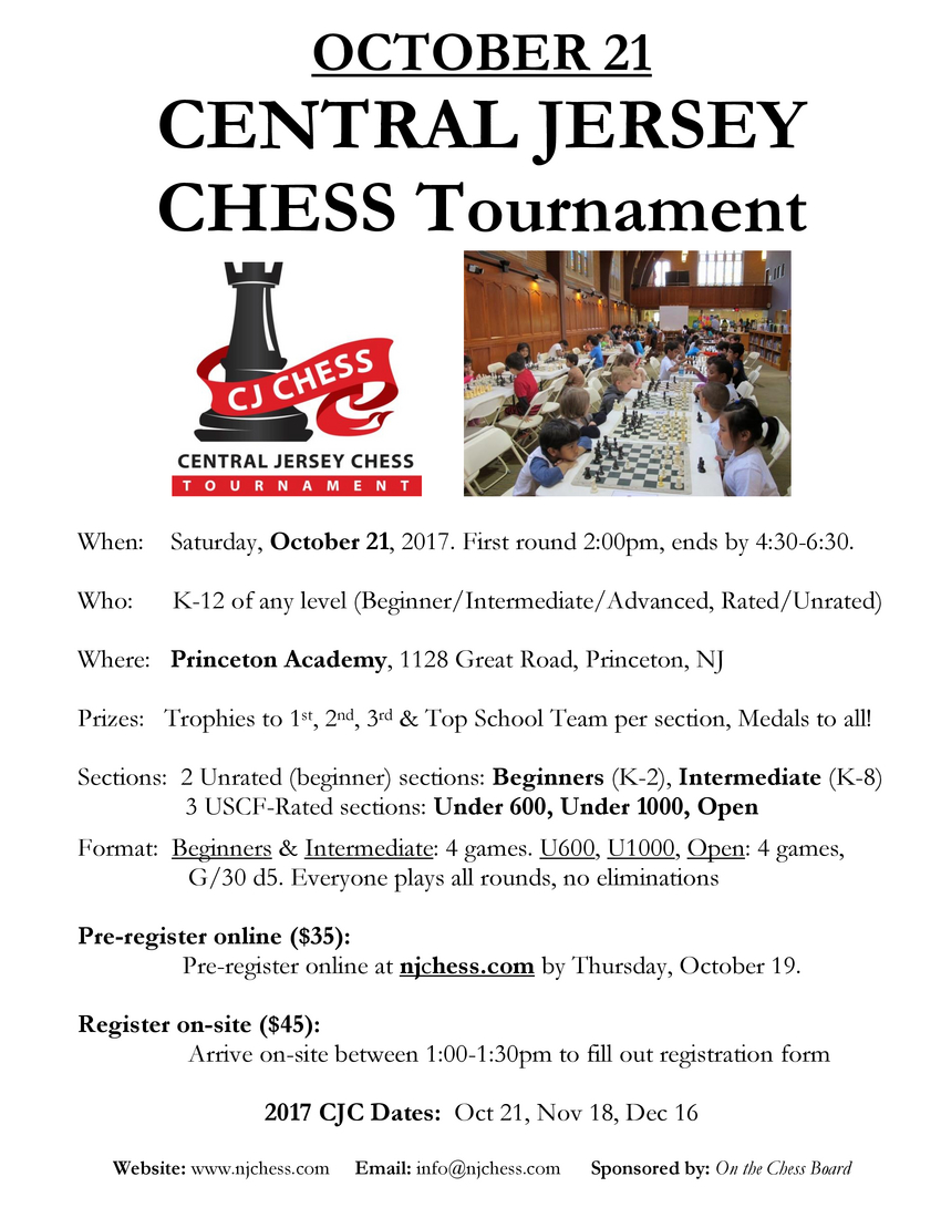 October 21 2017 chess tournament